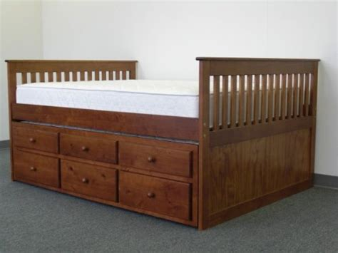 buy cheap captains bed with trundle and drawers