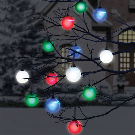 outdoor tree ornaments cordless outdoor lighted ornaments the green