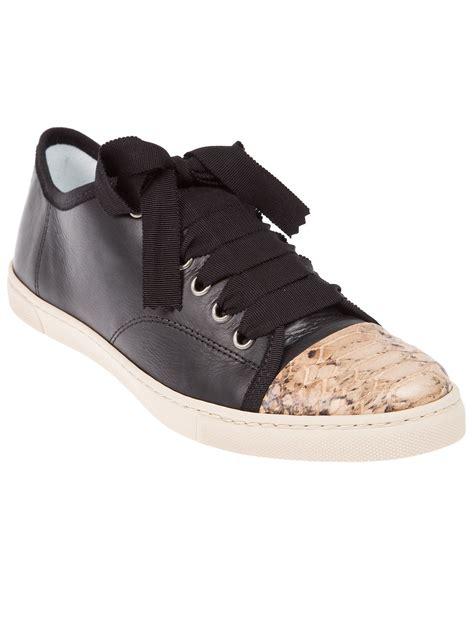 lanvin s sneakers lanvin bicolour sneaker in black lyst