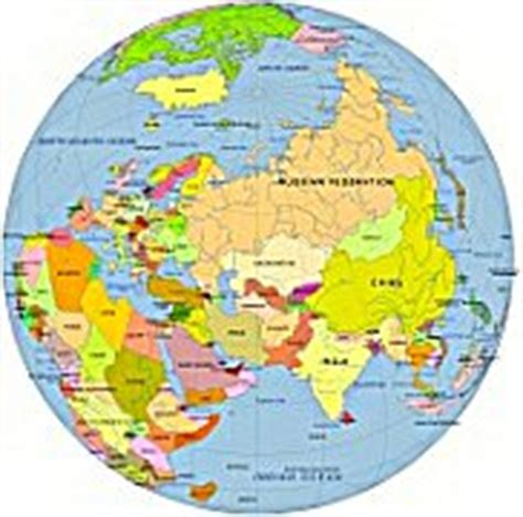 globe map with country names asia centered globe with country name