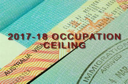 australia skilled migration occupation ceilings for 2017
