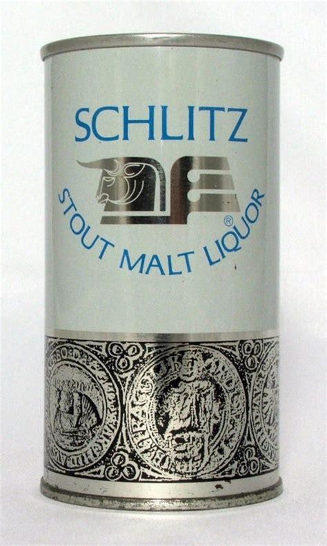 Schlitz L schlitz stout malt liquor unlisted steel canvas