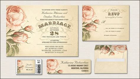 read more vintage pink roses wedding invitation wedding invitations by jinaiji - Vintage Wedding Invitations With Roses