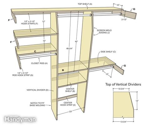 Closet Shelf Heights by Closet Organization A Simple Shelf And Rod System The Family Handyman