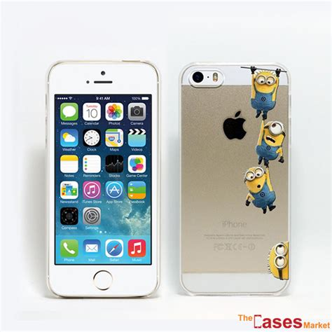 Minion Iphone 5 5s capa minions de pl 225 stico transparente iphone 5 e 5s the