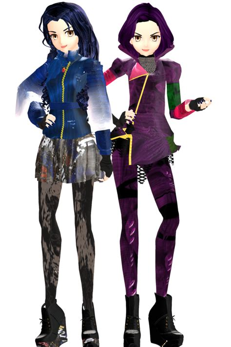 Anime Mal And Evie | mmd evie and mal by frede15 on deviantart