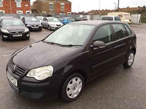 black volkswagen polo vw polo 2005 black 1 2 petrol manual very tidy car low