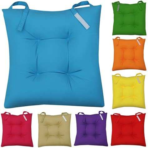 seat cushions for kitchen chairs uk new colourful seat pad dining room garden kitchen chair