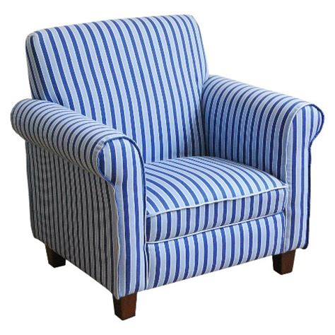And Blue Chair by Juvenile Club Chair Blue White Stripes Homepop Target