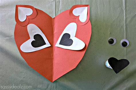 craft paper hearts paper fox craft for crafty morning