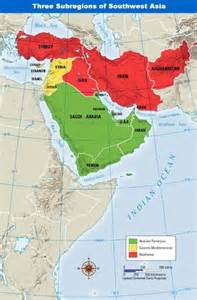 Southwestern Asia Map by Map Of Southwestern Asia