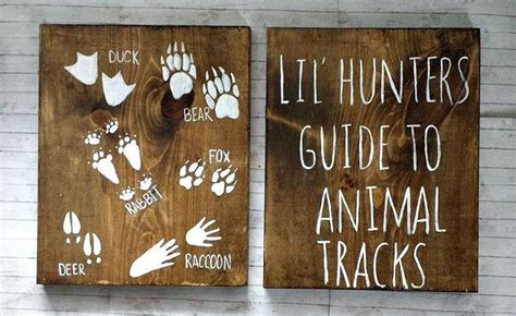 Bear Decorations For Home Lil Hunters Guide To Animal Tracks Rustic Wood Set