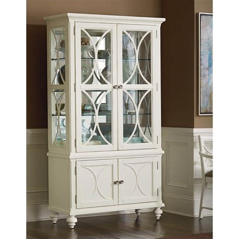Ikea Hack Dining Room Hutch by American Drew Lynn Haven Curio China Cabinet In White