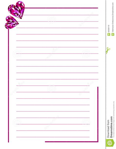 vector blank letter greeting card white paper form