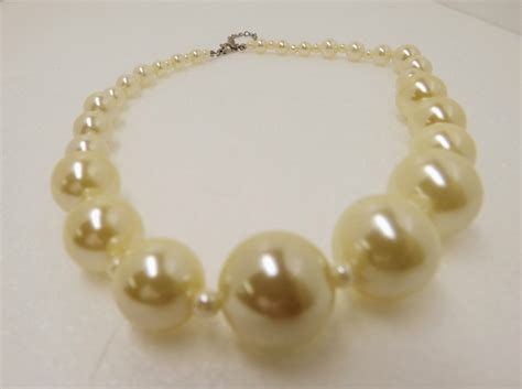 Faux Pearl Necklace faux pearl necklace chanel strand faux pearl