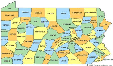 Printable Map Of Pennsylvania