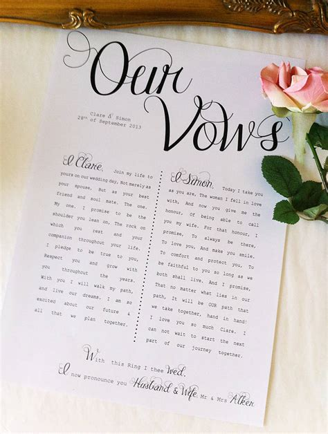 wedding vow template to and to hold writing your wedding vows nyc
