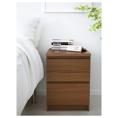 comodini ikea malm malm chest of 2 drawers brown stained ash veneer 40x55 cm
