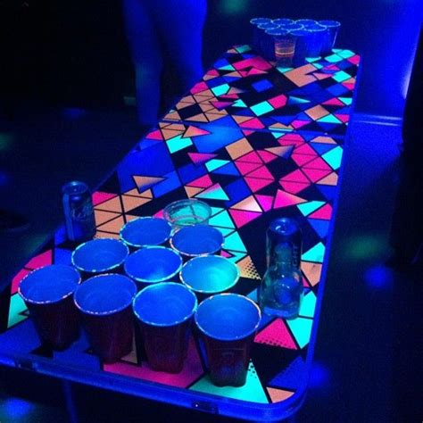 Blacklight Pong Table by 17 Best Images About I College On