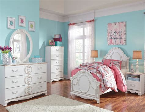 White Youth Bedroom Furniture by Korabella White Youth Panel Bedroom Set From B355