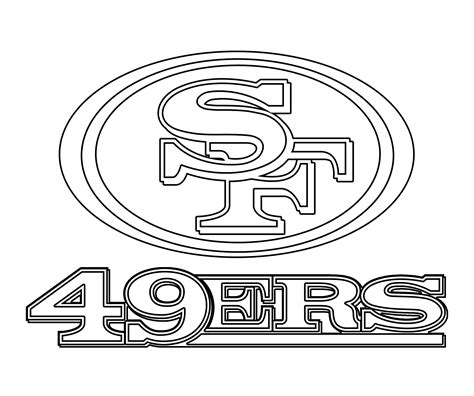 49ers Coloring Page by San Francisco 49ers Free Colouring Pages