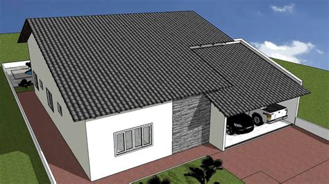desenhar casas desenho projeto sketchup casa 04