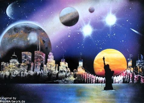spray paint cityscape city skyline spray paint photopaper by riensartwork