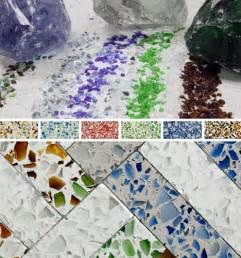recycled glass countertops colorful upcycled surfaces