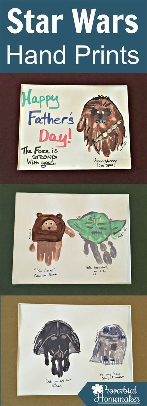 star wars hand prints for father s day star craft and