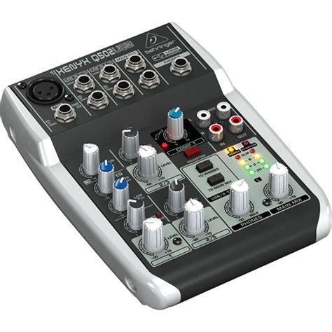 Behringer Xenyx Q502usb Premium 5 Input 2 Mixer Berkualitas behringer xenyx q502usb premium 5 input 2 mixer q502usb b h