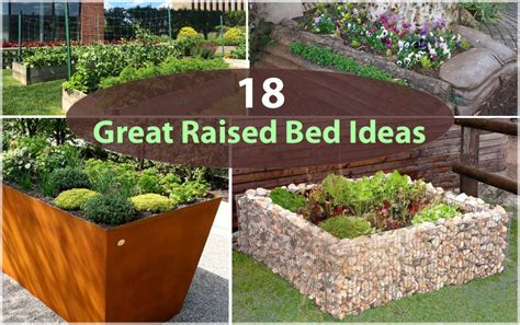 18 Great Raised Bed Ideas Raised Bed Gardening Balcony Raised Garden Bed Planting Ideas