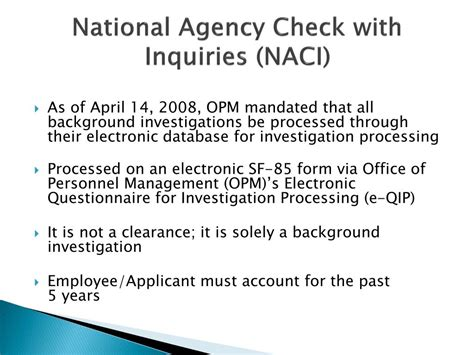 How Does A Naci Background Check Take Sf85 Background Investigation Background Ideas