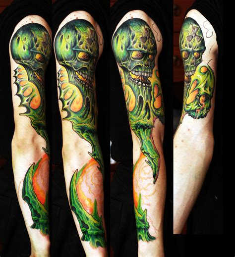 radiation tattoo radiation skull neorganic sleve wpi by timhag on deviantart