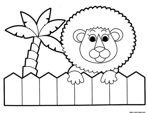 Lion Zoo Coloring Pages Online Free Printable Animal Coloring Pages For