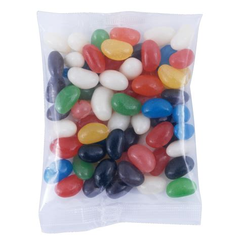 Jelly Mini assorted color mini jelly beans in 60 gram cello bag printed jelly beans confectionery