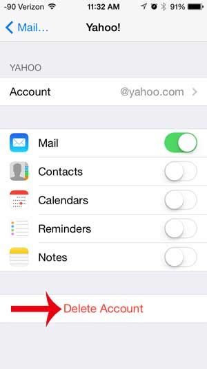 how to delete email accounts on the iphone how to delete a yahoo email account on the iphone solve
