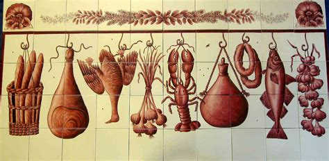 azulejo red wine red black portuguese azulejo style backsplash tile mural