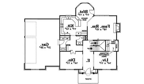 home plan homepw12686 4376 square foot 4 bedroom 4 early american house plans photos