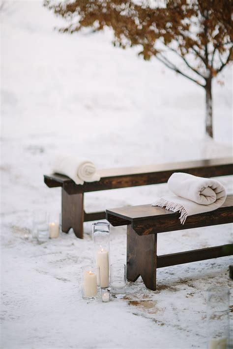 wedding bench nicole ryan s winter wedding beaver creek park hyatt