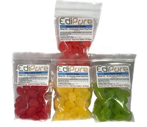 Thc Detox Calculator Edibles by Edipure Edible Candies 250mg Thc 4 Flavors Bud
