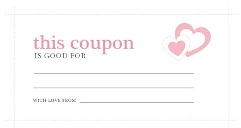printable coupons for him template printable blank tickets and coupon for days