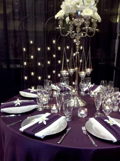 eggplant colored table linens 113 best reception tablecloths linens images on