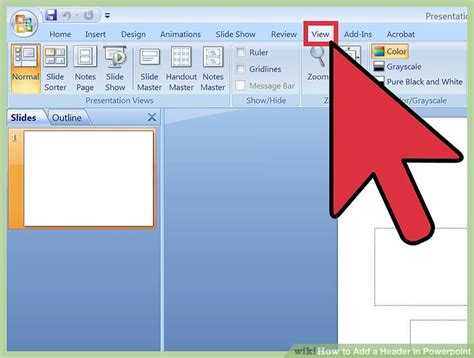 how do i section someone 3 ways to add a header in powerpoint wikihow