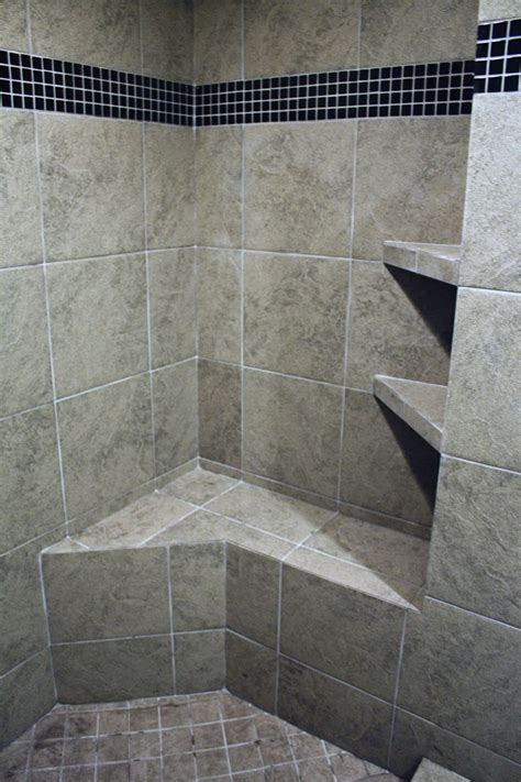 Ceramic Tile Shower Shelf by The Bench And Shelving In This Customer Ceramic Tile