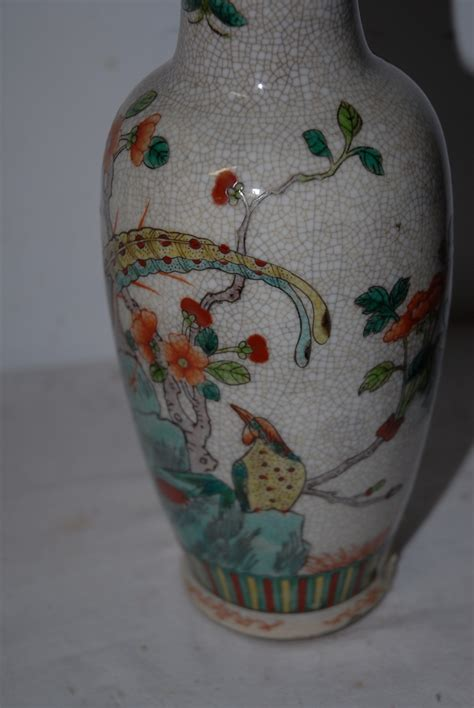 China Vases Antique by An Antique Crackle Ware Porcelain Vase From