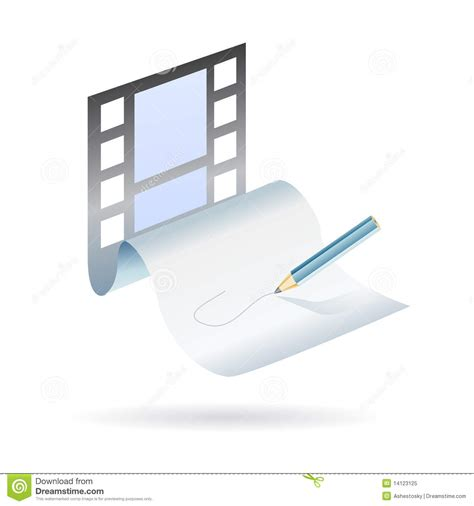 film it plot write and create a movie plot royalty free stock photo