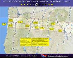 map of oregon total eclipse statistics total solar eclipse of aug 21 2017