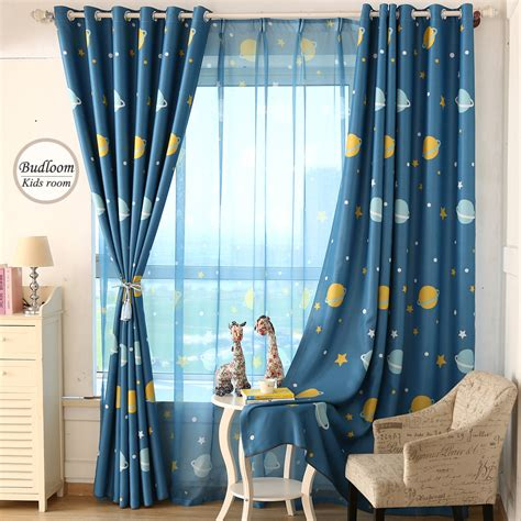 star curtains for kids cartoon blue planet star curtains for kids room lovely