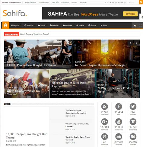 sahifa theme advertising 35 awesome ad space wordpress themes to monetize your