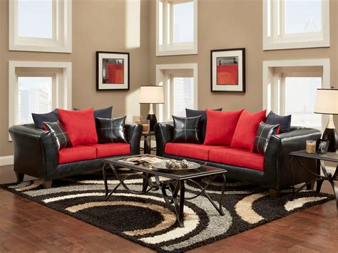 black and red living room thraam com